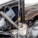 Accident !!! Man Crashes His New Car Into A Building In Delta. (Photos)