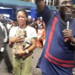 Stephanie Idolor, The lady who Recorded Success's Viral Video got N2million cash from Prophet Jeremiah Fufeyin of Mercyland Church in Warri (Video)