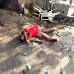 Unidentified Lady Corpse Found  at Garrison Bus-top in Port-Harcourt (Photo)
