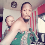WOW !!! Nollywood Actor Junior Pope backs his son in New Adorable Photo
