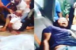 My husband is a ritualist  !!! Woman Cries Out As she Got Rescued after husband tied her and son up for money rituals (Video)