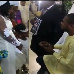 LOL !!! Pastor Stops Man From Proposing to his Daughter During a Wedding Service, Says He isn't Aware of their Relationship (video)