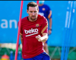 Lionel Messi returns to training with Barcelona