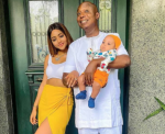 Lovely Photos of Regina Daniels with her hubby and their son, Munir