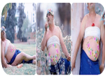 Husband Posed for Maternity Photos in Place of his Pregnant wife After she Refused to do the Photoshoot. (Photos)