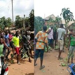 """Angry Youths Protest Over Mysterious """"Disappearance of Manhood"""" in Benue State (Photos)"""