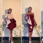 Amazing Nigerian Tailor makes dress that can be worn in 6 different styles (Photos)