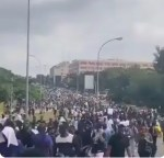 Huge crowd gather in Abuja for renewed EndSARS protest (Video)