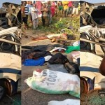 14 People, including 5 children killed as truck rams into Passenger bus in Kogi State (Photos)
