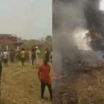 Military Aircraft crashes in Abuja (Video)