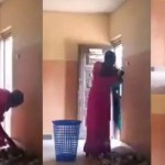 Woman Caught on Camera Stealing Money from a church's Offering basket (Video)