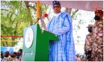 'It's better Nigeria remains United' - President Buhari, tells youth corpers