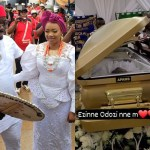 See Photos Of Obi Cubana's Mother's Foreign Gold Plated Casket Worth ₦30M ($72,881)