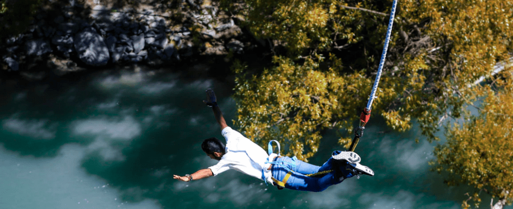man bungee jump omnipotence