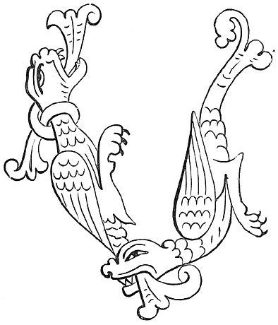 Anglo-Saxon Dragons (Cædmon M.S., tenth century).