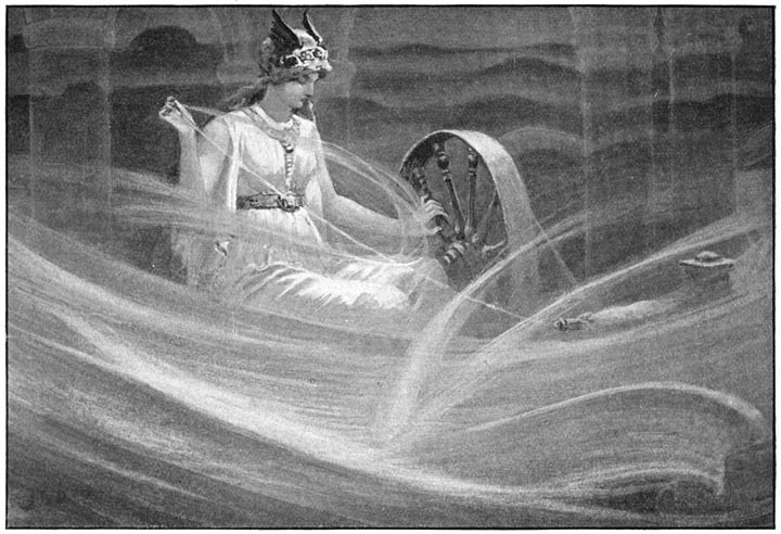 Frigga spinning the Clouds