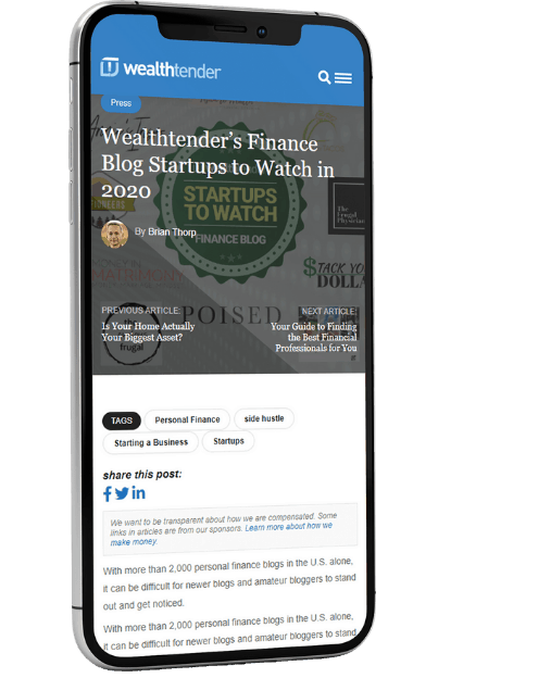 iPhone-Display-Wealthtender-Startup-Blogs-to-Watch