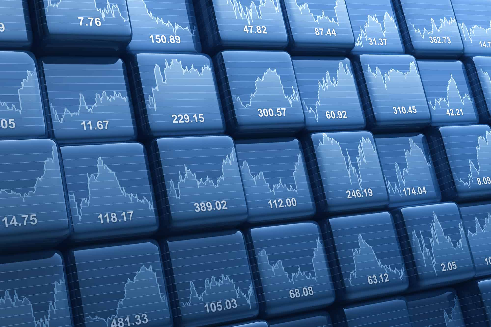 Stock market charts for investors