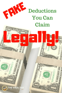 Almost every deduction available can be fake and still legal. Fake deductions are okay with the IRS if you know the law. Lost records? Missing receipts? No problem. You can use a guesstimate when filing your taxes. #law #irs #legal #illegal #fake