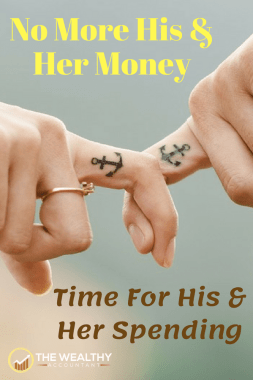 His and her money is bad advice too many use and lose. His and her spending can eliminate money problems while keeping love alive and growing. #wealthyaccountant  #money#moneyproblems #love #relationships #dating #compatibility #lover #spending