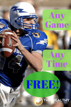 Score free tickets to any sporting event you want. Planning is simple and fun. You might even get paid to attend a football, soccer, basketball or baseball game. #wealthyaccountant #free #football #baseball #soccer #basketball #tickets