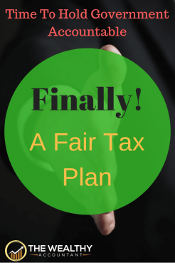 Looking for a fair tax plan? Then I know the perfect guy to vote for! Taxes are a mess is desperate need of organization. #wealthyaccountant #taxplan #tax #taxes #taxhumor #funny #deductions #credits