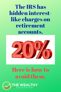 The IRS has hidden interest-like charges on retirement accounts. Here is how to avoid them. #avoidtaxes #taxes #retirement #IRS #interest
