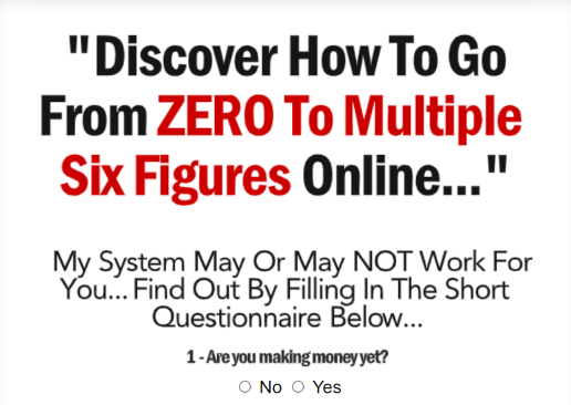 Take This Online Survey and Discover  How to Go from 0 to Multiple Six Figures Online