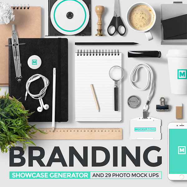Free smart photo frame mockup psd. Branding Showcase Generator From Mockup Zone