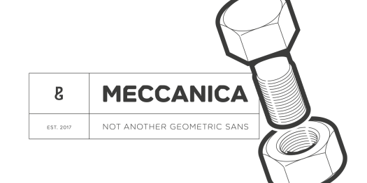 Meccanica display font family by Paulo Goode.