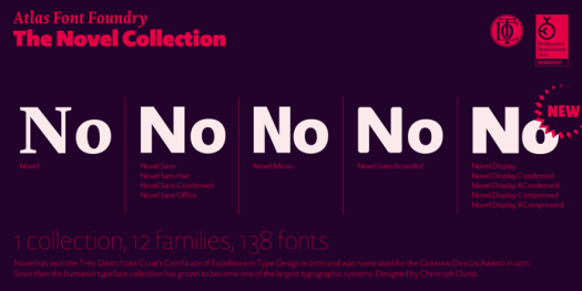 The Novel collectionfrom Atlas Font Foundry.