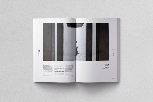 Moscovita print template, layout that extends over two pages.