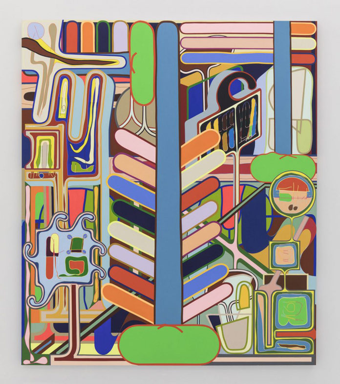 Beanstalk, 2017, acrylic on canvas, 84 x 72 inches, 213 x 183 cm
