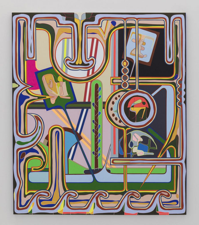 Meandering Framers, 2017, acrylic on canvas, 84 x 72 inches, 213 x 183 cm