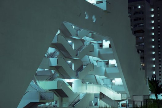 Concrete staircases in Tokyo.