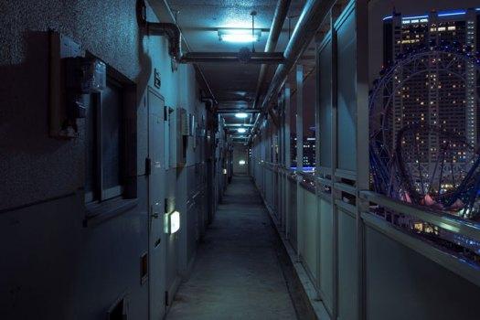 Danchi at night.