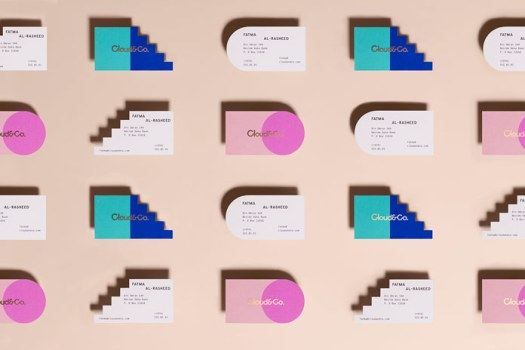 Unique business cards in different colors.