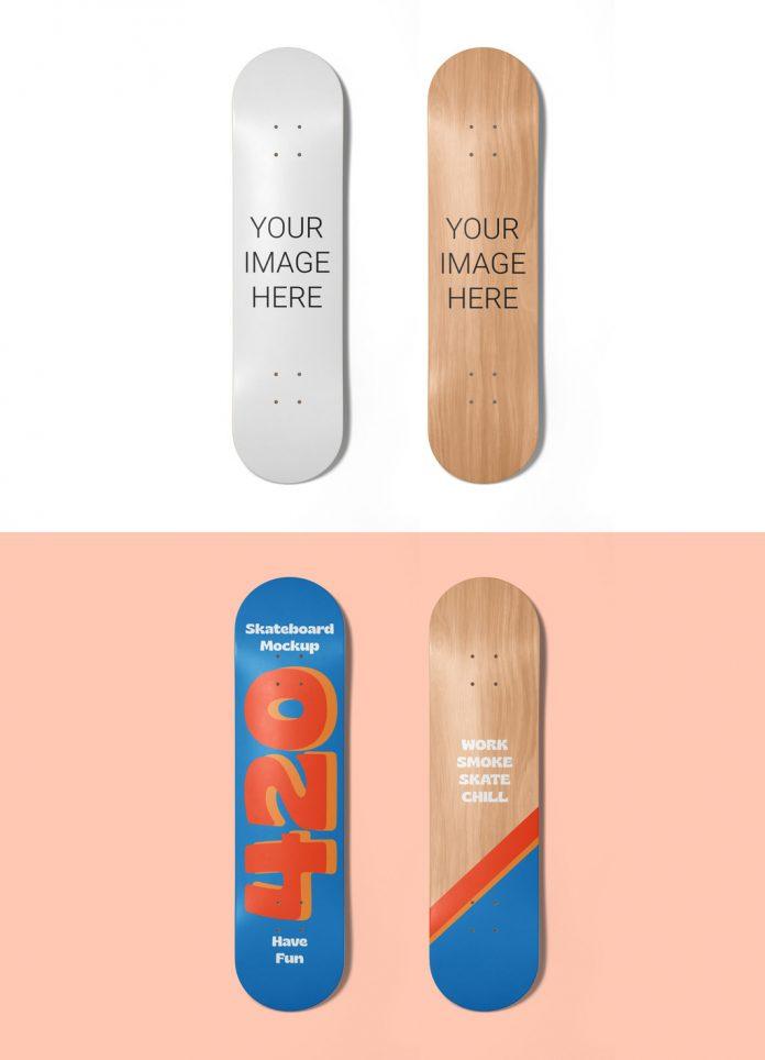 Skateboard Decks Mockup for Adobe Photoshop.