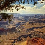 Вид на осенний Гранд Каньон