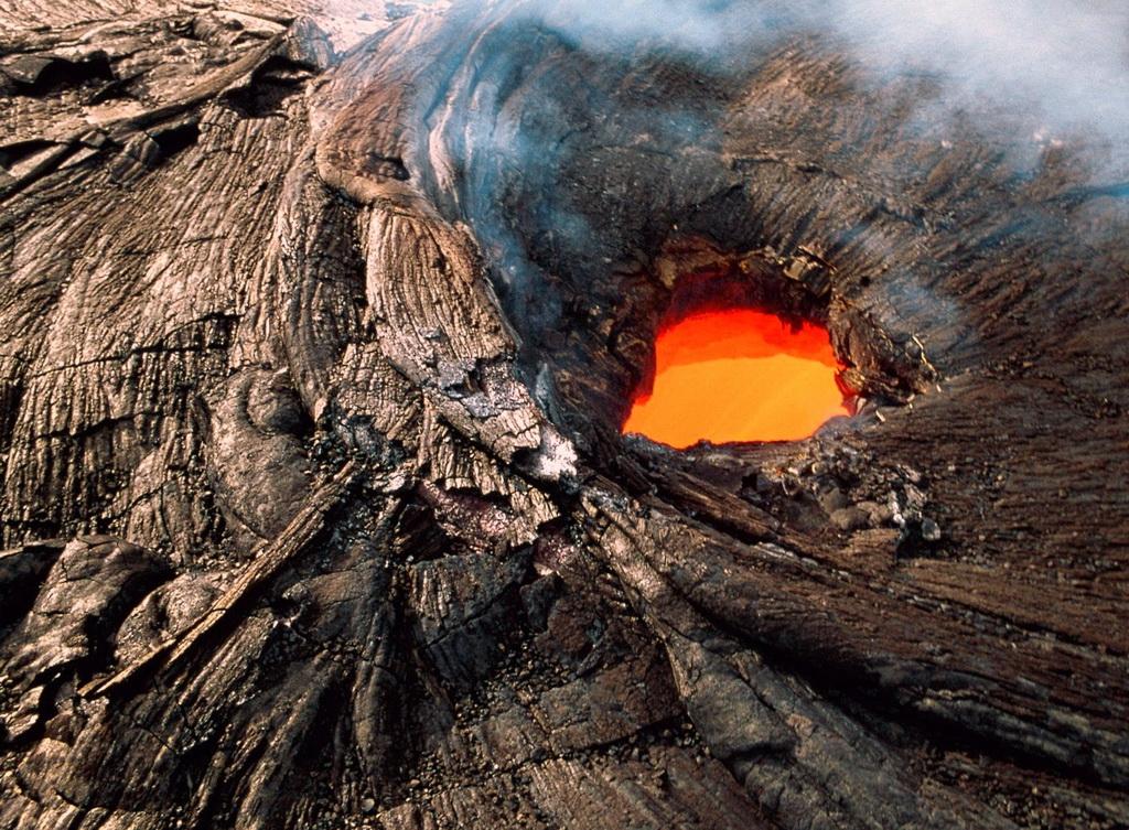 действующие кратеры вулкана