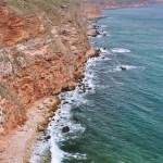 Красные скальные породы Калиакры