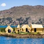 Плавучий остров на озере Титикака