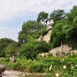 Вид на парк с нижней террасы