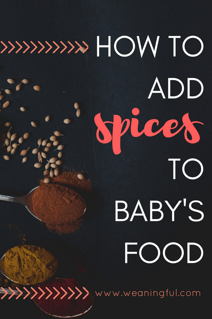 how to add spices in baby's food for extra flavour