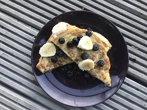 banana and blueberry french toast sandwich baby led weaning breakfast first foods finger foods