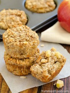 apple cinnamon baked oatmeal baby led weaning first foods finger foods