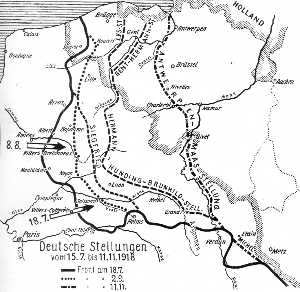 The Black Day Amiens To The Hindenburg Line Part Ii