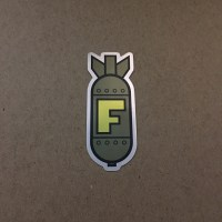 F-bomb sticker green