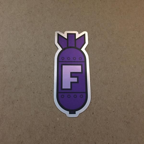 f-bomb sticker purple