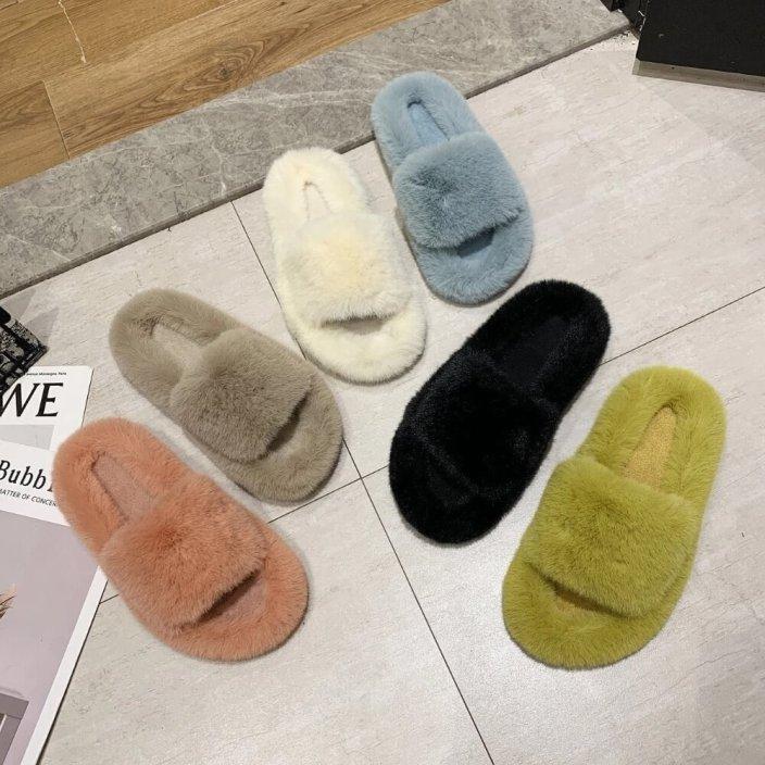 ava faux fur slippers soo fluffy